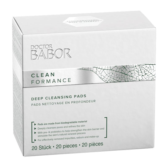 DOCTOR BABOR CLEANFORMANCE Re-Fill Deep Cleansing Pads 20 Stück