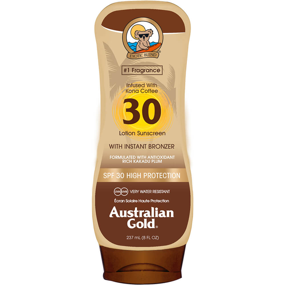 AUSTRALIAN GOLD LSF 30 Lotion mit Bronzer
