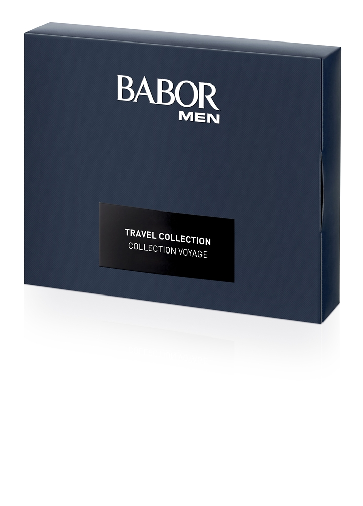 BABOR MEN Travel Set (Energizing Hair & Body Shampoo 50ml + Energizing Face & Eye Gel 15ml + Calming Face & Eye Cream 15ml + Calming After Shave Serum 10ml)