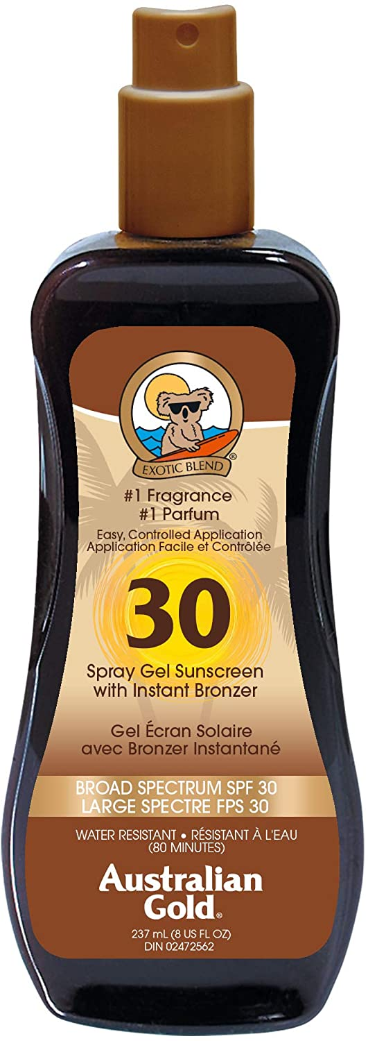 AUSTRALIAN GOLD LSF 30 Spray Gel mit Bronzer